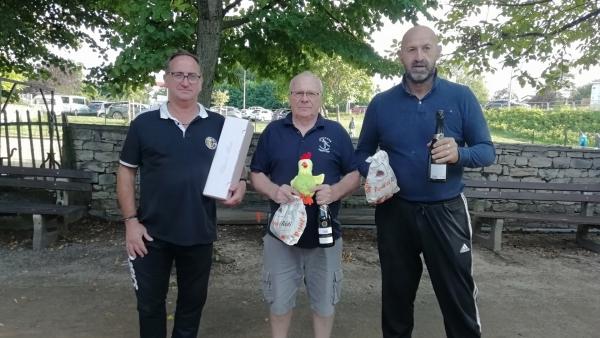 Chalon-sur-Saône : La triplette Chevrey-Chaplin-Blondet remporte le 'Concours du Poulet'