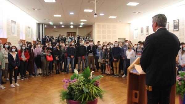 Réception à la mairie en l'honneur des bacheliers des lycées Chalonnais reçus avec mention «Très bien»