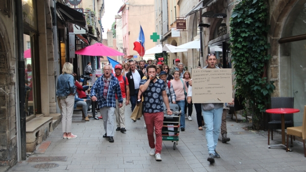 185 personnes réunies pour la 12ème manifestation anti-pass sanitaire à Chalon-sur-Saône