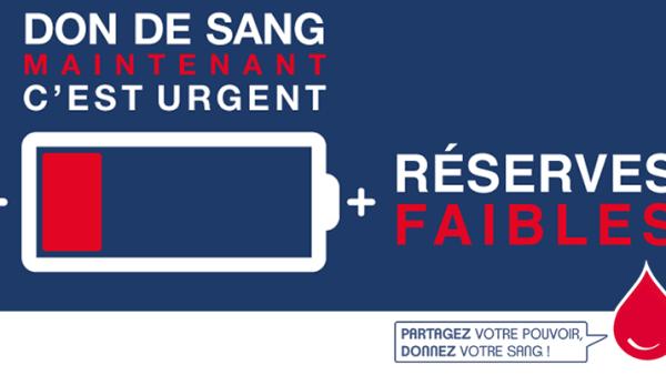 Appel au don du sang, à un moment où  les réserves ont atteint un niveau  «dangereusement critique».