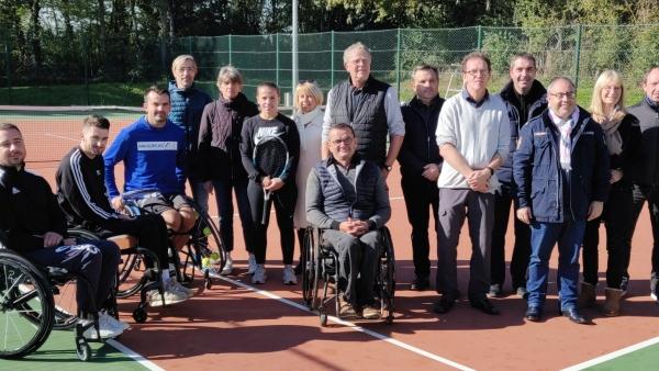 Ouverture d'une section Tennis-fauteuil au Tennis club de Dracy