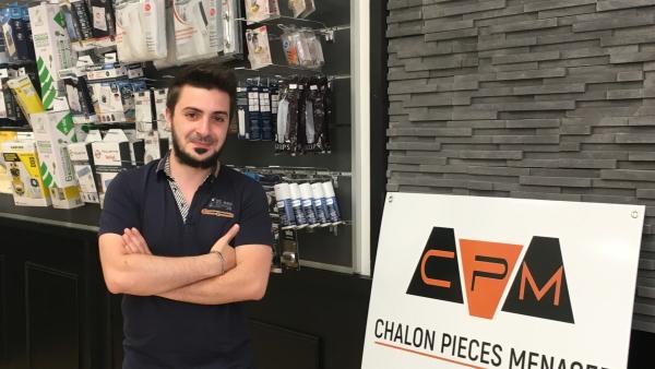 Quentin Bijard ouvre sa propre enseigne « CHALON PIECES MENAGER » rue aux Fèvres à Chalon/Saône !