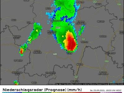 Risque d'orage violent Le Tournugeois et la Bresse