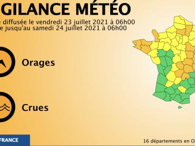 La Saône et Loire placée en vigilance orange aux orages