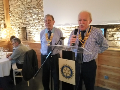 Michel Baguet président du Rotary Chalon Saint-Vincent