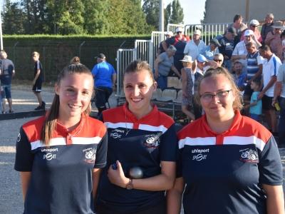 Chalon-sur-Saône : La triplette Ophélie Simonot, Axelle Simonot et Amandine Labille  remporte  la Finale du National femmes « Sport GF »