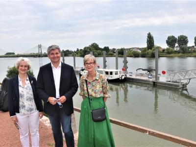 Inauguration à Chalon-sur-Saône : Péniches, bateaux de plaisance et embarcations pourront désormais faire escale au ponton de Manon