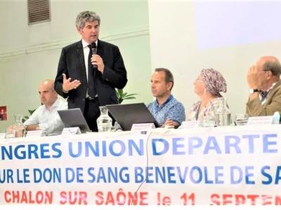 L'Union départementale pour le don de sang bénévole de Saône-et-Loire en congrès à Chalon