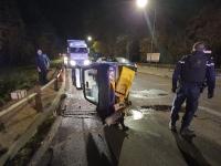 Violente perte de contrôle à l'entrée de Châtenoy en Bresse