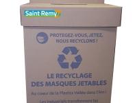 Belle initiative portée par la commune de Saint-Rémy sur la collecte des masques usagés