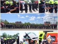 Journée d'intégration pour 55 nouveaux sapeurs-pompiers volontaires, dont 20 femmes en Saône et Loire