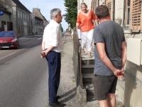 DEPARTEMENTALES - CANTON DE GERGY - Nathalie Damy et Michel Duvernois avec André Accary sur la question des digues du Val de Saône