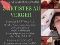 3 artistes au verger... c'est ce week-end à Mercurey