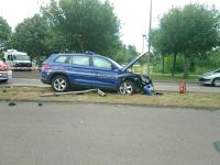 Violent choc routier pour un véhicule de la gendarmerie en intervention