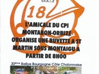 RALLYE DE LA COTE CHALONNAISE - L'Amicale du CPI Montabon-Orbize vous attend à sa buvette