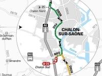A6 : Des fermetures annoncées des diffuseurs de Chalon Nord / Sud et de Tournus