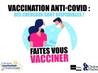 Vaccination anti-covid - Des créneaux sont disponibles au centre de vaccination de Chalon sur Saône