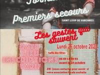 Le réseau des Foyers Ruraux du Chalonnais organise une journée de formation PSC1 (premiers secours) – Spéciale jeunes