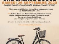Tous à bicyclette pour une balade douce organisée par l'Orange Bleue