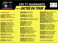 71 lauréats pour la Dictée du Tour