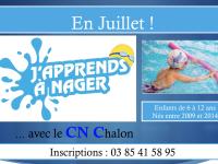 """Le Cercle Nautique Chalonnais propose 4 séances en juillet de """"J'apprends à nager"""""""