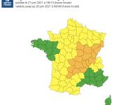 La Saône et Loire placée en alerte orange aux orages