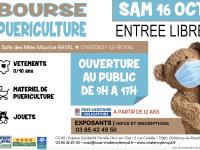 Bourse puériculture le 16 octobre à Châtenoy le Royal