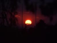 Soleil de feu au lever ce jeudi matin sur le Chalonnais