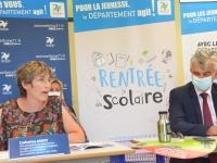 """""""L'environnement, un enjeu majeur dans les collèges de Saône et Loire"""" rappelle Catherine Amiot, Vice-Présidente du conseil départemental"""