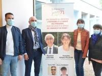 DEPARTEMENTALES - CHALON 1 - Réunion publique pour Françoise Verjus-Pelletier et Raymond Gonthier