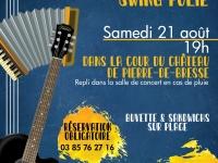 A noter sur vos agendas - Concert en extérieur avec le groupe Swing Folie à l'Ecomusée de Pierre de Bresse