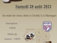 Concours de pétanque annoncé par le club de rugby de Givry/Cheilly