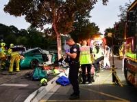 2 blessés dont 1 grave, en urgence absolue, dans une violente perte de contrôle