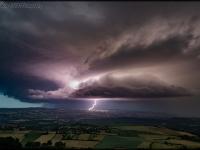 Incroyable cliché signé Will Hien pendant l'orage de samedi soir en Saône et Loire