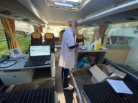 C'est parti pour le Vacci'Bus en Saône et Loire avec des étapes  tout au long du mois d'avril