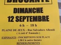 Brocante du Plateau Saint Jean le dimanche 12 septembre