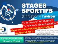 Pour s'aérer pendant les vacances de Pâques, le Cercle de l'Aviron de Chalon organise des stages sportifs d'initiation à l'aviron