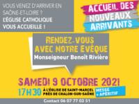 Monseigneur Rivière accueillera le 9 octobre les nouveaux arrivants en Saône-et-Loire