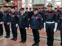 Cérémonie de la Sainte-Barbe : Remise de distinctions aux soldats du feu du Centre d'incendie et de secours de Givry, dont le chef changera en 2020.
