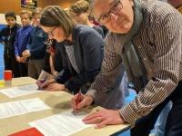 La ville de Saint-Marcel s'associe à la convention liant le collège Vivant Denon et le Handball Club Saint Marcel