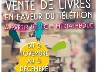 Vente de livres en faveur du Téléthon à la médiathèque