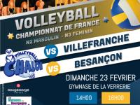 Dimanche Volley-ball à la Verrerie avec la réception de Villefranche et de Besançon