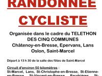 TELETHON 2019 - Randonnée cycliste des 5 communes ce samedi