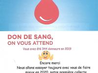 Collecte de sang annoncée