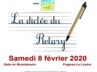 Retenez la date de la prochaine dictée du Rotary