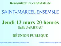 MUNICIPALES - Réunion publique annoncée pour Saint Marcel Ensemble