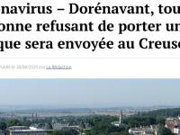 MEDIAS - Quand Le Gorafi propose d'envoyer  tous les opposants au port du masque ... au Creusot !