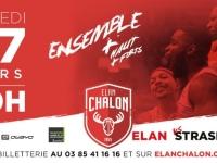 Le match Elan Chalon - Strasbourg maintenu au Colisée !