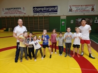 Très bons résultats aux Championnats de Saône et Loire pour les poussins lutteurs de Champforgeuil