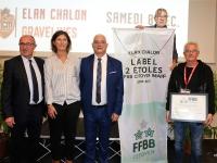 Le Label FFBB Citoyen 2 étoiles attribué à l'Élan Chalon